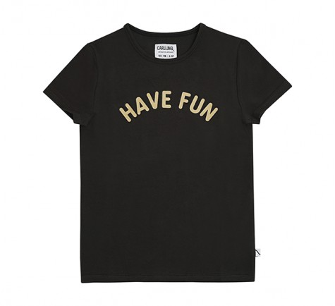 Camiseta negra Have Fun de CarlijnQ